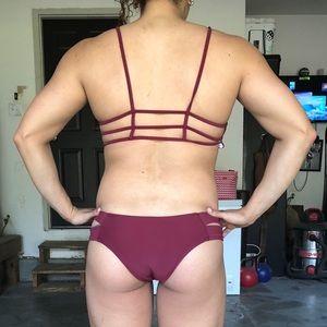 Zaful Swim - Zaful Wine Colored Bikini